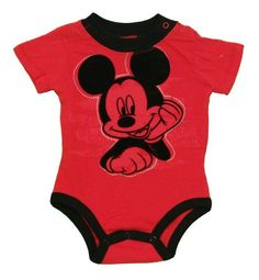"Disney ""Mickey Mouse"" Red Infant Bodysuit (6/9M) Disney http://www.amazon.com/dp/B00CLB0GUU/ref=cm_sw_r_pi_dp_oKqmub1V05K5Y"