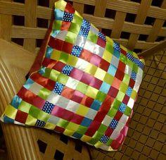 Pillow case ,ribbon craft