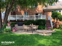 TimberTech composite deck with paver patio by South Chicago Suburb deck builder Archadeck of Chicagoland