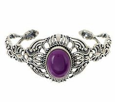 Purple perfection! The beautiful design of this sterling silver cuff makes it the perfect #ColoroftheYear accessory. #RadiantOrchid