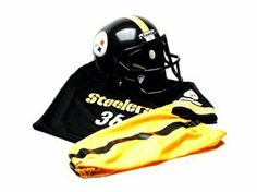 NFL Steelers Football Helmet and Uniform Set (Youth Medium) by Franklin. $47.99