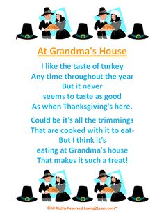 thanksgiving activities for kids | Thanksgiving Poems for Kids: Great Poems & Read Along Videos
