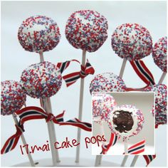 My Little Kitchen: mai cake pops What Is Patriotism, Norwegian Food, Norwegian Recipes, Constitution Day, Little Kitchen, Inspiring Things, Time To Celebrate, Creative Food, Holidays And Events
