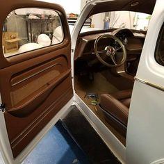 Custom Car Interior, Interior Ideas, Erin Smith, Old Ford Trucks, Old Fords, Car Interiors, Panel Doors, Custom Cars, Hot Rods