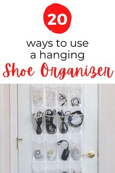 easy cheap home organizing hack using hanging shoe organizer. Smart home organizing tip for cheap. quick entryway closet organizing idea. bathroom organizing idea. pantry organizing idea. #hometalk