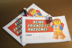 Free Valentine's Day LEGO Printable - Download our free Emmet card!