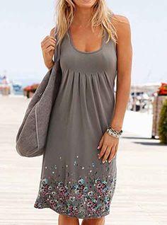 Small Flower Prints / Knee Length / Sleeveless Plus Size Maxi Dresses, Casual Dresses, Short Sleeve Dresses, Summer Dresses, Summer Outfits, Mini Dresses, Women's Dresses, Fall Outfits, Crochet Dresses