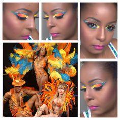 Tobago Jazz Trinidad Carnival 2015 Carnival 2015, Trinidad Carnival, Carnival Festival, Carnival Ideas, Gothic Makeup, Fantasy Makeup, Carnival Makeup Caribbean, Samba, Cheer Makeup