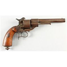Lefacheaux Mdl 1853 Cal 12mm SN:NVSNEarly French made cavalry model pinfire revolver imported durin