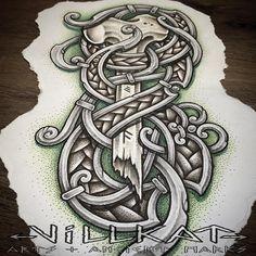 Repost of some concept knotwork art....would love to make this as a tattoo :) #nordic #norse #nordicart #norseknotwork #villkattattoo #villkat #villkatarts #viking #vikings #vikingart #vikingnation #dotwork #dotsnpatterns #celtic #celtictattoo #knotwork #celticknotwork #artofthenorth #knotworktattoo #vikingtattoo #theoldways #dotwork #dotworktattoo #dotworkerssubmission #vikingsunite #pagan #paganart #ancientmarks #rune #runes #runetattoo