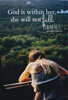 God is with me, I will not fall.♥