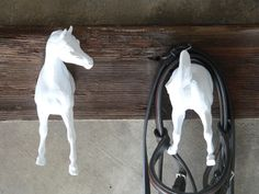 Arabian Horse Clothing (or bridle) Rack. $50.00, via Etsy.