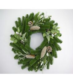 Holiday Inspirations- Frosted Pine with Greenery Foliage Wreath: seasonal floral: floral: home decor: Shop | Joann.com