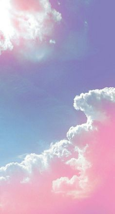 Pastel purple and pink clouds in the sky ● phone background Pink Clouds Wallpaper, Wallpaper Backgrounds, Nature Wallpaper, Heaven Wallpaper, Rainbow Wallpaper, Beautiful Wallpaper, Trendy Wallpaper, Computer Wallpaper, Wallpaper Downloads