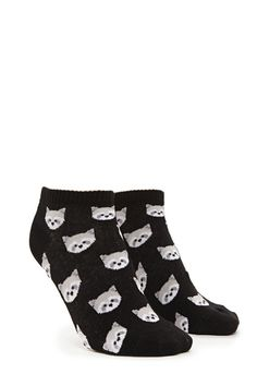 Raccoon Graphic Ankle Socks | Forever 21 - 2000170027