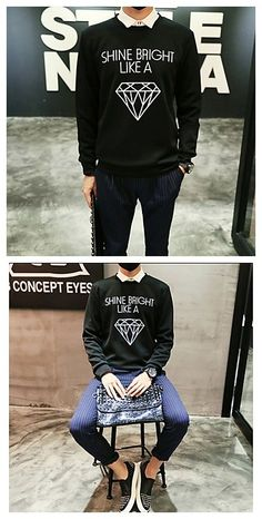 Yeah, love the quote on this men's sweater! You can shine like a diamond and be unique! Get it in our Black Friday deal right now! Starts from Nov.24. We have hundreds of limited-time Lightning Deals for you to choose from, exciting Deals of the Day, and savings on your wallet