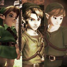 Ocarina of Time, Twilight Princess, Skyward Sword.