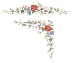 Long or Corner Floral by The Mad Stencilist