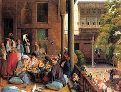 Mid Day Meal, John Frederick Lewis (British Painter , 1805-1876)