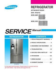 69 Best Samsung Refrigerator Service Manuals images in 2019 | Sam