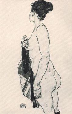 Female Nude 1917 egon schiele