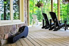 Family Tree Photography   Real Estate Photography   #Muskoka #chairs  #deck  #guitar
