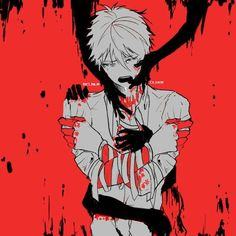 Dark bloody anime boy Guro pain