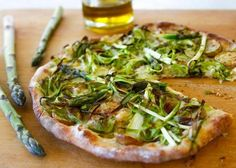 Recipe for shaved asparagus pizza with fontina and potatoes - The Boston Globe
