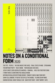 album poster notes on a conditional form Room Posters, Poster Wall, Music Posters, Minimalist Music, Minimalist Poster, The 1975 Poster, The 1975 Album, The 1975 Wallpaper, Polaroid Wall