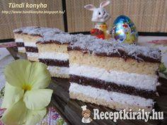 Tejszínes kókuszos sütemény | Receptkirály.hu Vanilla Cake, Nutella, Tiramisu, Deserts, Food And Drink, Ethnic Recipes, Paplan, Cakes, Cooking