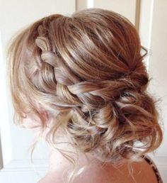 Trendy Wedding Hairstyles : Featured Hairstyle: Heidi Marie (Garrett) Villa – Hair and Makeup Girl; Best Wedding Hairstyles, Pretty Hairstyles, Braided Hairstyles, Prom Hairstyles, Updo Hairstyle, Protective Hairstyles, Bridesmaid Hairstyles, Quinceanera Hairstyles, Latest Hairstyles