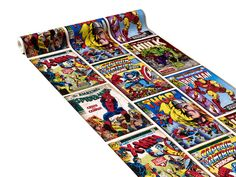 Papier peint HEROS MARVEL coloris multicolore