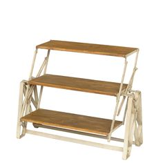Urban vintage iron and pine shelving / table Unit - A remarkable shopfitting reproduced by Andy Thornton's in cast iron and reclaimed pine. The originals believed to date from mid 19th century were used as shopfittings in the United States.