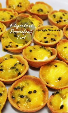 Traditional 4-Ingredient Passionfruit Tart | No-bake filling. Easy, quick and best for party..., ,