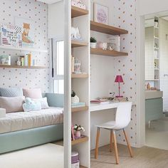 If you're using a spare bedroom that also doubles up as a guest bedroom, it's easy to design a compact home office that doesn't intrude on the space
