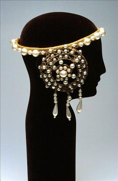 Head dress worn by Nellie Melba as 'Desdemona' in Otello - c.1924 - @~ Mlle                                                                                                                                                     More