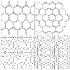 Half Hexagon Quilting by batixa, via Flickr