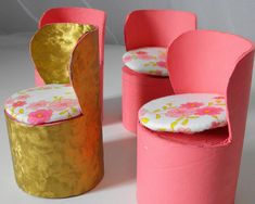 diy barbie furniture ideas | Crisis made these fancy little chairs for her daughter's Barbie ...