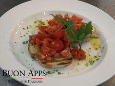 Our Bruschetta with altamura pugliese bread with Sicilian cherry tomato