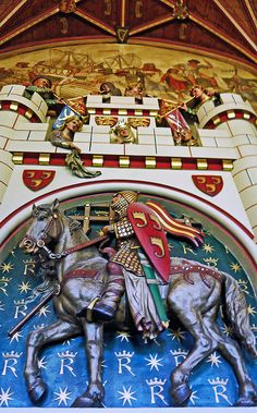 Cardiff Castle, design by William century for the Marquess of Bute Medieval Houses, Medieval Castle, Cardiff, Cool Works, Welsh Castles, Fantasy Castle, Scottish Islands, Cymru, Victorian Gothic