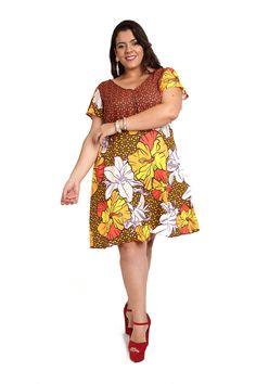 Vestido Flores do verão Plus Size | Sou Plus Store - Moda Plus Size a partir de #44