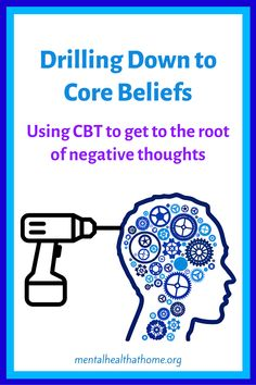 In cognitive behavioural therapy (CBT), core beliefs lie at the root of our negative thoughts. By addressing distorted core beliefs, you can change the automatic thoughts that come bubbling up. #cbt #cognitivebehavioraltherapy #corebeliefs #negativethoughts #therapy #mentalhealth Play Therapy, Art Therapy, Cbt Worksheets, Core Beliefs, Anxiety Tips, Dbt, Cognitive Behavioral Therapy, Negative Thoughts, Mental Health
