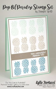 Stampin' Up! Australia: Kylie Bertucci Independent Demonstrator: Pop Of Paradise - Pineapples for GDP037