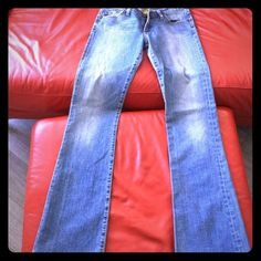 Denim AG never worn. No tags. Purchased in Atrium Vintage look. Hard jean. Boot cut. Slight flare AG Adriano Goldschmied Jeans