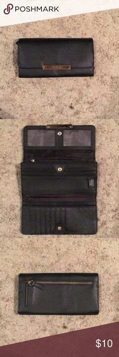 Wallet Barely used all black wallet. Willing to take offers! Tahari Accessories