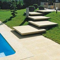 Risultati immagini per escalier exterieur entrée maison Landscape Stairs, Landscape Design, Modern Landscaping, Backyard Landscaping, Landscaping Ideas, External Staircase, Concrete Stairs, Tile Stairs, Outdoor Steps