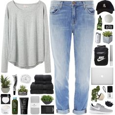 A fashion look from September 2015 featuring Organic by John Patrick tops, J Brand jeans and American Eagle Outfitters socks. Browse and shop related looks.