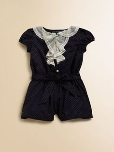Ralph Lauren Infant's Swiss Dot Romper