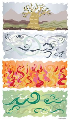 Earth, Air, Fire, Water - JG ImageCreations, Inc.