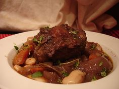 Jamaican Style Oxtail Stew-  think I'll add a couple of bonnet peppers to my version.